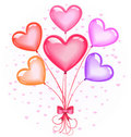 Heart-shaped Balloons Bouquet Stock Photography - 17908482