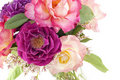 Colorful Roses In Vase Royalty Free Stock Images - 17911089