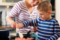 Family Cooking In Kitchen Royalty Free Stock Photos - 17916828