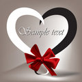 Heart Tied With Red Ribbon Stock Photo - 17925700