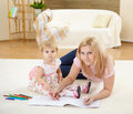 Mother With Her Little Daughter At Home Royalty Free Stock Photo - 17927585