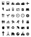 36 Icons Black- Transportation, Travel Royalty Free Stock Photos - 17928748