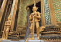 Gold Guard Statue Royalty Free Stock Photo - 17930785