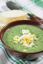 Spinach Soup With Boiled Egg Royalty Free Stock Images - 17941189