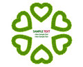 Green Grass Love Heart Frame Isolated Stock Photo - 17944020