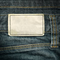Leather Label On Jeans Royalty Free Stock Image - 17949236