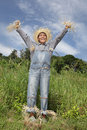 Cheering Boss Scarecrow Royalty Free Stock Photos - 17951818