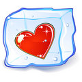 Heart And Ice Cube Royalty Free Stock Photos - 17954558