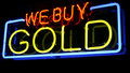 Neon WE BUY GOLD Sign Royalty Free Stock Images - 17955279