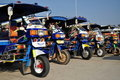 Motor Tricycle Queue In Lao Stock Images - 17957014