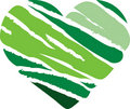 Green Stripe Heart Royalty Free Stock Images - 17975119