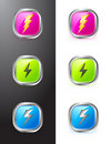 Buttons With Lighting Symbols Royalty Free Stock Images - 17981479