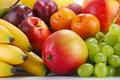Variety Of Fruits With Drops Of Water Stock Image - 17991241
