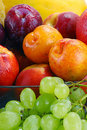 Variety Of Fruits With Drops Of Water Royalty Free Stock Image - 17991976