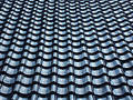 Pattern Of Black Tiled Roof Royalty Free Stock Photo - 185205