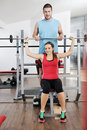 Woman Fitness Workout With Weights Royalty Free Stock Photos - 18001608