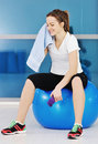 Woman Fitness Workout With Weights Royalty Free Stock Photography - 18003017
