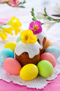 Easter Cake And Eggs Royalty Free Stock Image - 18022126