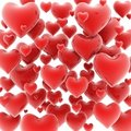 Hearts 3d Background Stock Photo - 18037130