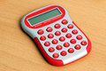 Red Calculator Stock Photography - 18037632