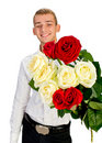 Young Man With Rose Stock Image - 18043401