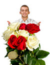 Young Man With Rose Royalty Free Stock Images - 18043559