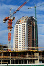 Crane And New Building Royalty Free Stock Photos - 18052818