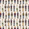 Seamless Young Man Pattern Stock Photography - 18061602
