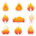 Flame And Fire Symbols Stock Image - 18074151