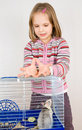 Child Plays With A Rat Stock Image - 18078891