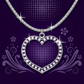 Platinum Necklace With  Brilliants Stock Images - 18083744