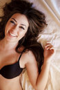 Cheerful Woman In Bed Stock Photo - 18086790