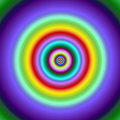 Colorful Fractal Circles Target Image. Royalty Free Stock Photography - 1811307