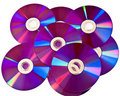 Many DVD Media Discs On Pile Royalty Free Stock Image - 18106686