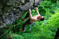 Rock Climber On Route Stock Image - 18117001