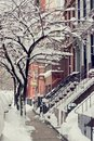 A Street Covered With Snow Royalty Free Stock Images - 18128459