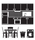 Kitchen Objects, Furniture And Equipment Royalty Free Stock Photo - 18136235