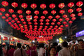 Street Lamp With The Crowd Stock Photos - 18157823