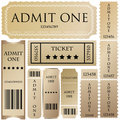 Tickets In Different Styles Royalty Free Stock Image - 18165896