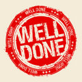 Well Done Stamp. Stock Photo - 18181350