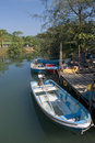 Boats On The River Stock Image - 18183711