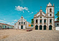 Church In Tropical Village Royalty Free Stock Images - 18185419