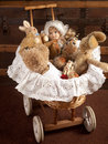 Toys In Old Cradle Stock Photography - 18195672