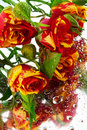 Roses On The Mirror Royalty Free Stock Photo - 18196005
