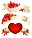Red Heart Beautiful Flower Royalty Free Stock Photo - 18214895