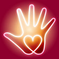 Heart Hand Royalty Free Stock Photo - 18228245