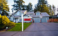 Suburban House For Sale Royalty Free Stock Images - 18228949
