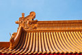 Chinese Roof Art Royalty Free Stock Image - 18232856