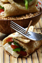 Cheese Wrap Dinner Stock Image - 18248741