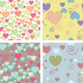 Four Patterns For Valentine S Day Stock Image - 18255581